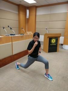 รูปที่ 1 บรรยากาศวันออกกำลังกาย