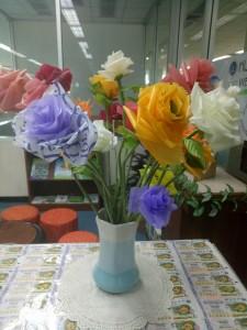 ดอกไม้จากถุงพลาสติก
